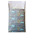 "Tiny-Tote-Along ""Boy"" Airplane Print Diaper Bag in Grey/Blue"