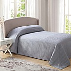 French Tile King Bedspread in Grey