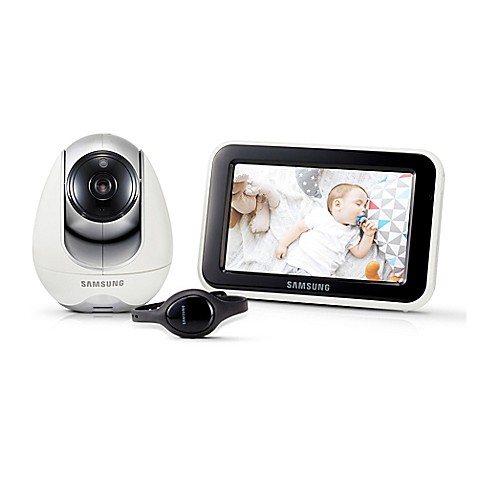 samsung babyview dual mode digital video baby camera and monitor with bluetooth watch in white. Black Bedroom Furniture Sets. Home Design Ideas