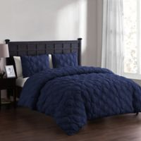 VCNY Home Atoll Embossed King Duvet Cover Set in Navy