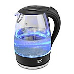 Kalorik 1.7 Liter Cordless Electric Glass Kettle with Blue LED Lights