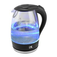 Kalorik® 1.7 Liter Cordless Electric Glass Kettle with Blue LED Lights