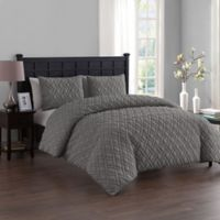 VCNY Home Lattice Embossed Twin/Twin XL Duvet Cover Set in Grey