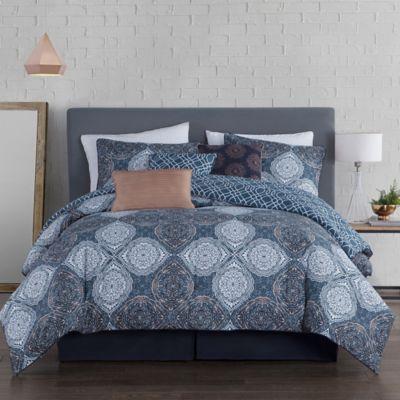 Avondale Manor King Demi Duvet Cover Set In Blue