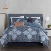 Avondale Manor Queen Demi Duvet Cover Set in Blue