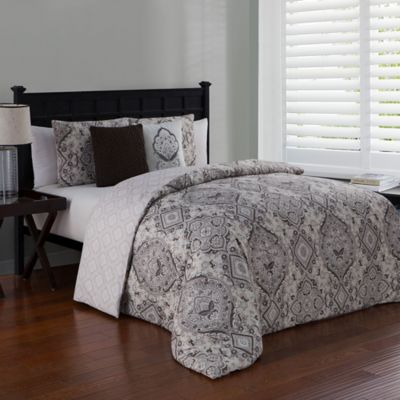 Avondale Manor Nina Reversible King Duvet Cover Set In Taupe