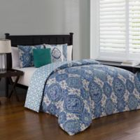 Avondale Manor Nina Reversible King Duvet Cover Set in Teal