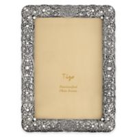 Tizo Design 8-Inch x 10-Inch Jeweled Silver Frame