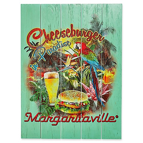 Margaritaville 174 Cheeseburger In Paradise Outdoor Wall Art