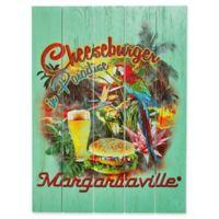 Margaritaville® Cheeseburger in Paradise Outdoor Wall Art in Green