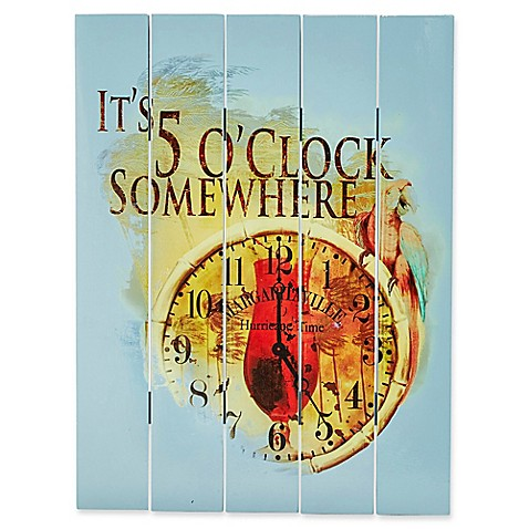 Margaritaville 174 Quot It S 5 O Clock Somewhere Quot Outdoor Wall