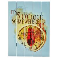"Margaritaville® ""It's 5 O'clock Somewhere"" Outdoor Wall Art in Blue"