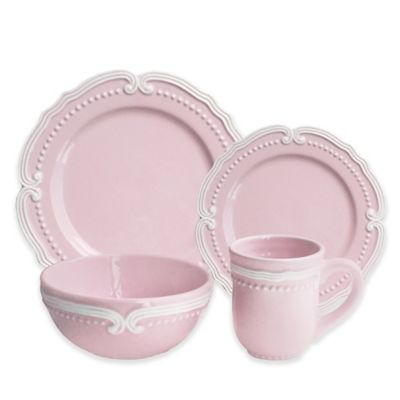 American Atelier Victoria 16-Piece Dinnerware Set in Blush  sc 1 st  Bed Bath \u0026 Beyond & Buy Dinnerware Earthenware from Bed Bath \u0026 Beyond