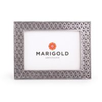 Marigold Artisans 5-Inch x 7-Inch Flower of Life Aluminum Frame in Silver