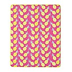 Pineapple Indoor/Outdoor Throw Blanket in Pink/Yellow