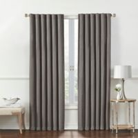 Rockwell 63-Inch Back Tab Window Curtain Panel in Charcoal