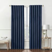 Rockwell 63-Inch Back Tab Window Curtain Panel in Navy