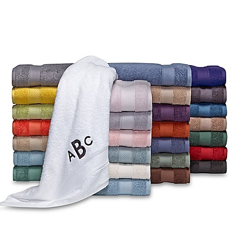 image of Wamsutta® Personalized Hygro® Duet Bath Towel Collection