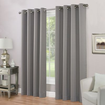 Imperial Lined 108 Inch Grommet Top Window Curtain Panel In Pewter