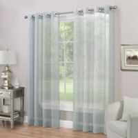 Imperial 84-Inch Grommet Top Sheer Window Curtain Panel in Mineral