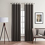 Costas Remix 84-Inch Grommet Top Window Curtain Panel in Charcoal