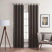Costas Remix 108-Inch Grommet Top Window Curtain Panel in Charcoal