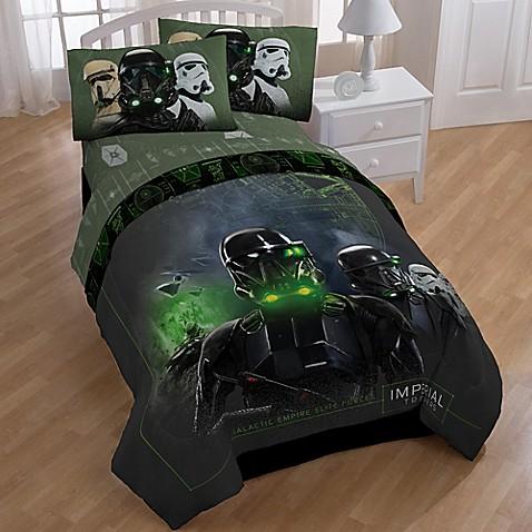 Star Wars Imperial Trooper 4 Piece Twin Comforter Set In