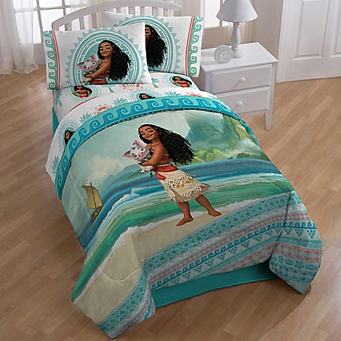 Disney Moana. Disney Moana  The Wave  4 Piece Twin Comforter Set in Aqua   Bed