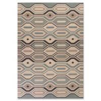 Vista Groove 3-Foot 3-Inch x 4-Foot 11-Inch Indoor/Outdoor Rug in Stone