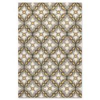 KAS Harbor Mosaic 2-Foot x 3-Foot Indoor/Outdoor Accent Rug in Grey/Gold