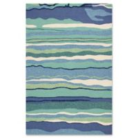 Harbor Lagoon 3-Foot 3-Inch x 5-Foot 3-Inch Indoor/Outdoor Area Rug in Ocean