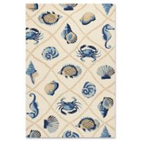 KAS Harbor Seaside 2-Foot x 3-Foot Indoor/Outdoor Accent Rug in Sand