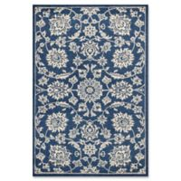 KAS Lucia Verona 1-Foot 8-Inch x 3-Foot 9-Inch Indoor/Outdoor Accent Rug in Denim