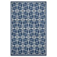 3-Foot 3-Inch x 4-Foot 11-Inch Lucia Indoor/Outdoor Accent Rug in Denim