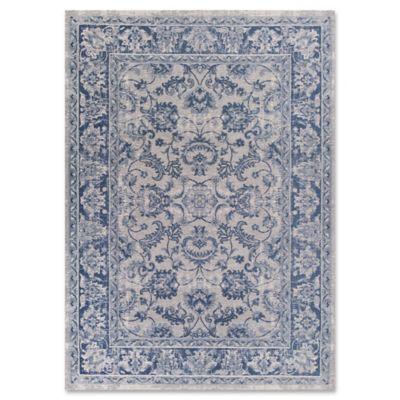 Retreat Kashan 5-Foot x 7-Foot Area Rug in Slate Blue - Buy Slate Blue Area Rugs From Bed Bath & Beyond