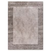 Retreat Border 2-Foot 2-Inch x 3-Foot 8-Inch Accent Rug in Taupe