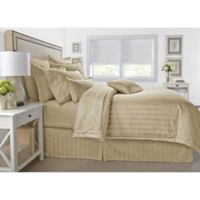 Wamsutta® 500-Thread-Count PimaCott® Damask Stripe Twin Duvet Cover Set in Taupe