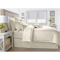 Wamsutta® 500-Thread-Count PimaCott® Damask Stripe Twin Duvet Cover Set in Ivory