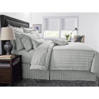 Wamsutta® 500-Thread-Count PimaCott® Damask Stripe King Duvet Cover Set in Silver