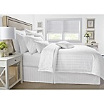 Wamsutta® 500-Thread-Count PimaCott® Damask Stripe Full/Queen Duvet Cover Set in White