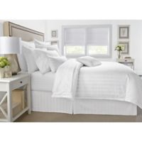 Wamsutta® 500-Thread-Count PimaCott® Damask Stripe Twin Duvet Cover Set in White