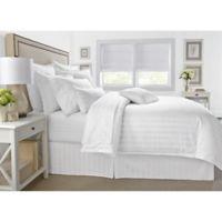 Wamsutta® 500-Thread-Count PimaCott® Damask Stripe Full/Queen Duvet Cover Set in White