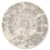 Safavieh Adirondack 6-Foot Round Area Rug in Ivory/Silver