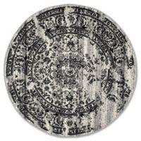 Safavieh Adirondack 8-Foot Round Area Rug in Silver/Black