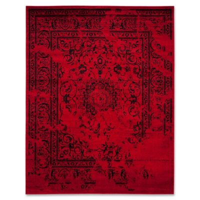 Safavieh Adirondack 10 Foot X 14 Foot Area Rug In Red/Black