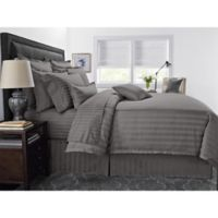 Wamsutta® 500-Thread-Count PimaCott® Damask Stripe Full/Queen Duvet Cover Set in Grey