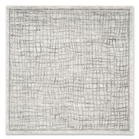 Safavieh Adirondack 6-Foot Square Area Rug in Silver/Ivory