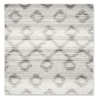 Safavieh Adirondack 6-Foot Square Area Rug in Silver/Charcoal