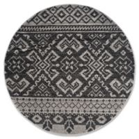 Safavieh Adirondack 4-Foot Round Area Rug in Silver/Black