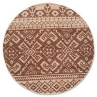 Safavieh Adirondack 4-Foot Round Accent Rug in Camel/Chocolate